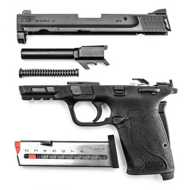 Disassembled Smith & Wesson M&P380 Shield EZ