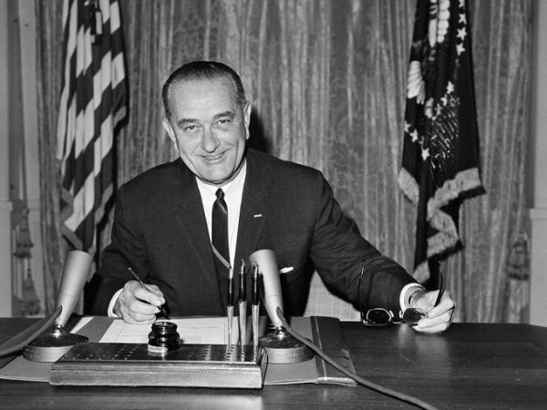 Johnson Signing the Gulf of Tonkin Resolution