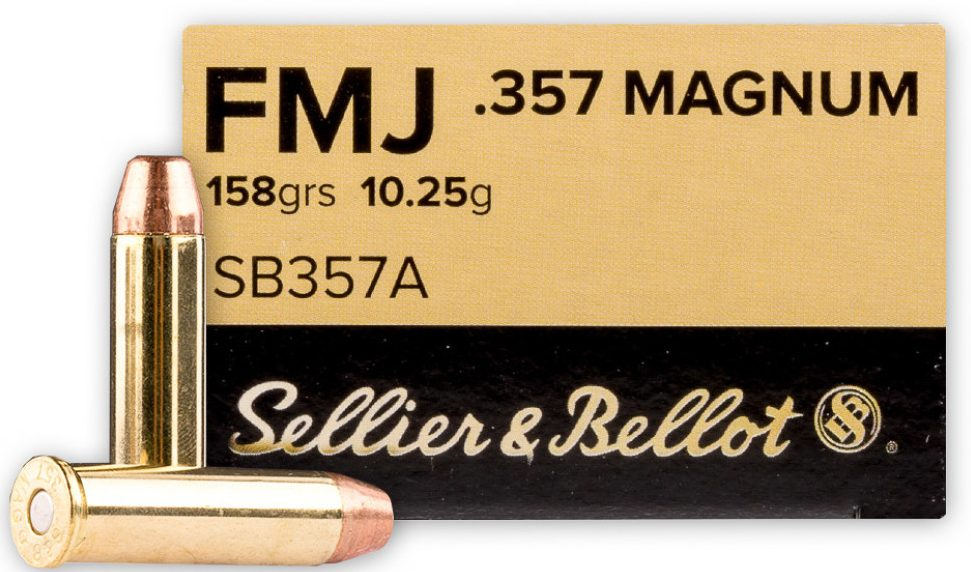 Sellier & Bellot .357 Mag 158 Grain FMJ