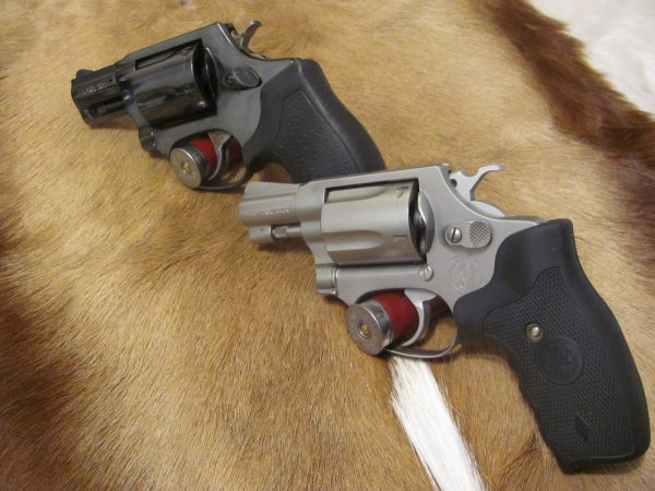 Taurus 605 .357 Mag on top; S&W J-Frame .38 Special on bottom