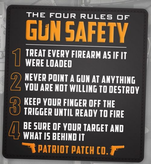 Patriot Patch Co - 4 Rules of Gun Safety