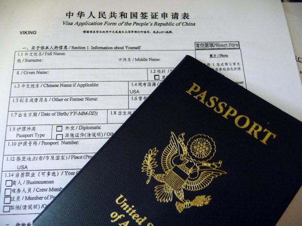Passport and Chinese Visa Application
