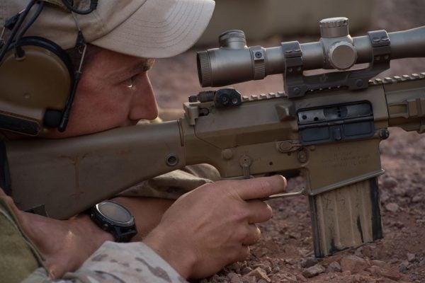 US Airman Practicing Long Range Marksmanship