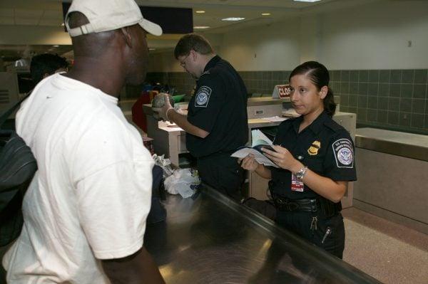 US Airport Border Control