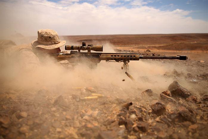 USMC firing M82