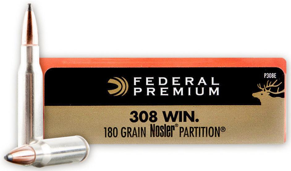 Federal Vital-Shock .308 Win 180gn Nosler Partition