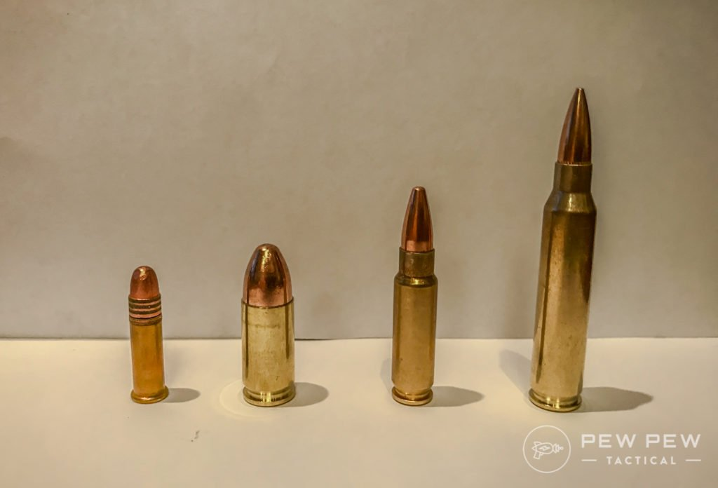(L to R) 22LR, 9mm, Five-Seven, 5_56