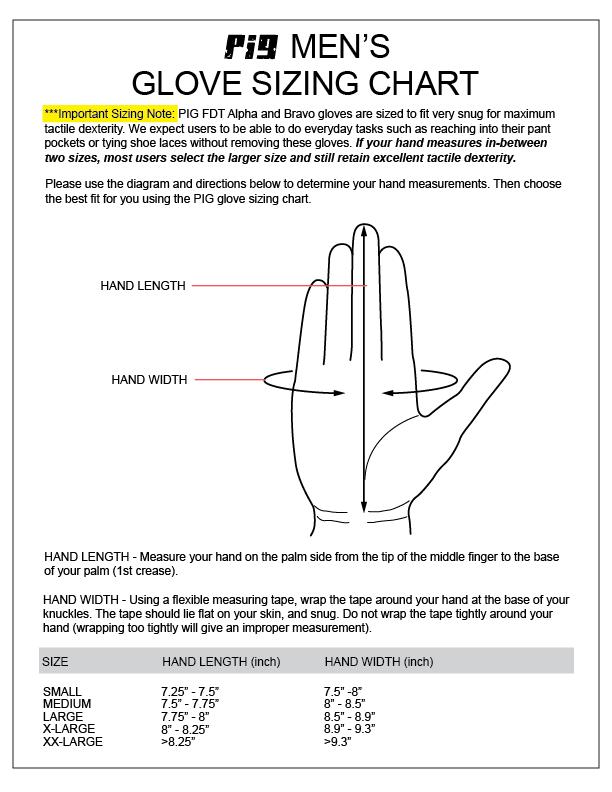 SKD Glove Sizing