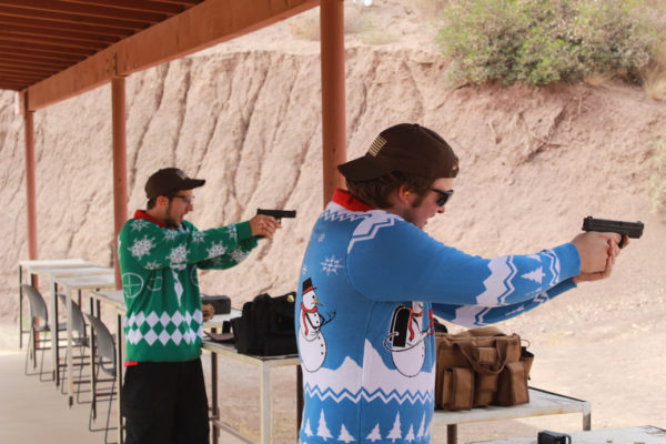Shooting in Ugly Christmas Sweaters