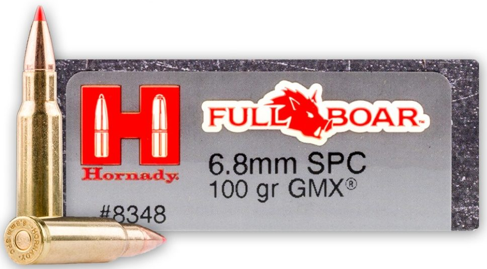 Hornady Full Boar 100gr 6.8 SPC - 20 Rounds