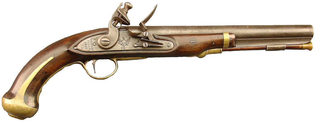 Antique flintlock pistol, no background check required!