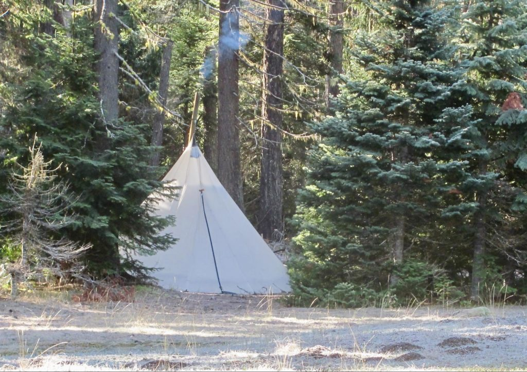 Elk Camp Deep in the Wilderness