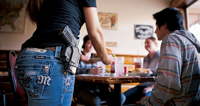 Everything tastes better with a handgun by your side