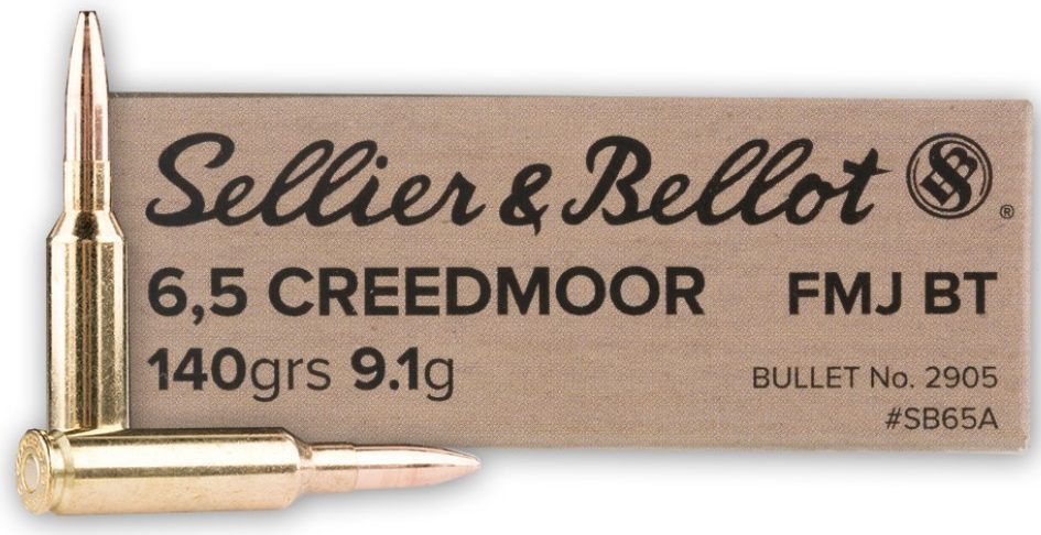 Sellier & Bellot 6.5 Creedmoor 140g FMJBT - 20 Rounds