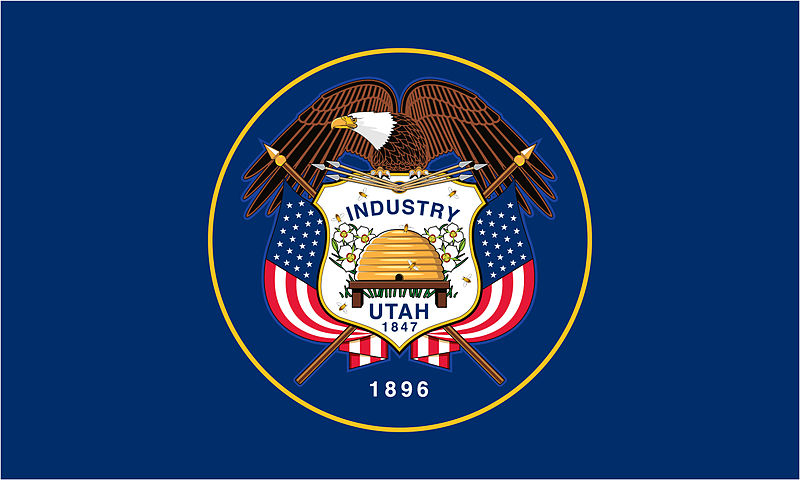 State flag of Utah (beehive included!)
