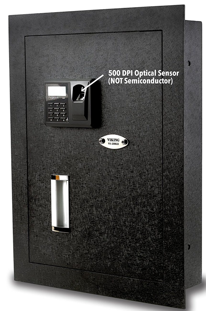 Viking Security Biometric Fingerprint Hidden Wall Safe