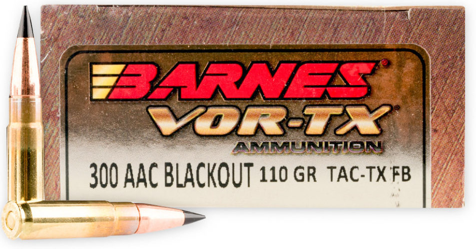 Barnes VOR-TX Tipped Triple-Shock X Hollow Point 110gn 300 BLK - 20 Rounds