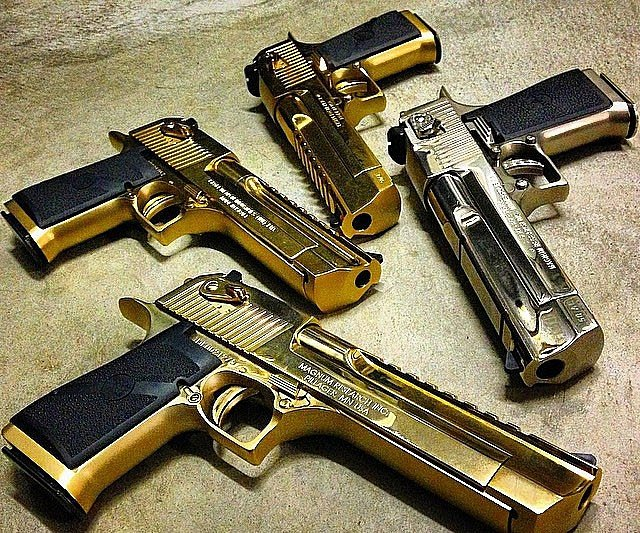 Golden Desert Eagles