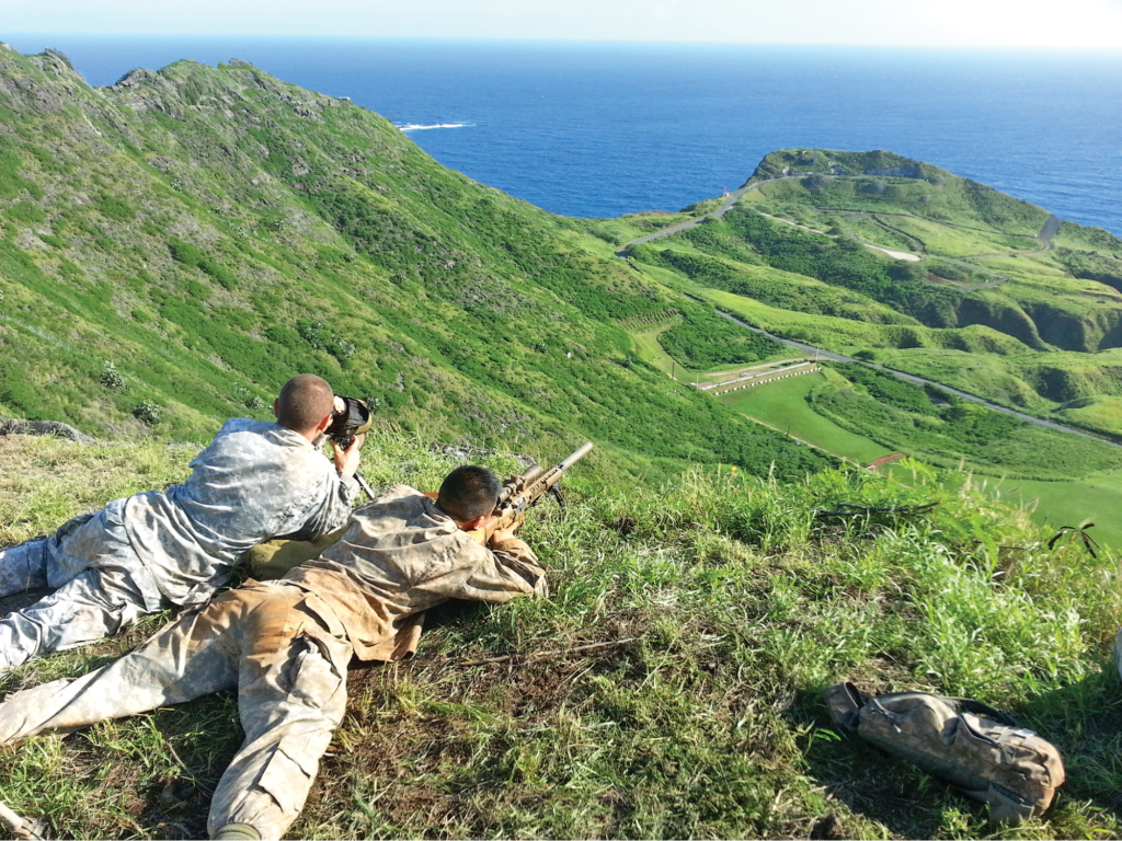 Just taking in the sights and doing a little distance shooting at Marine Corps Base Hawaii
