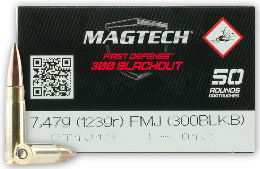Magtech First Defense 123gn 300 BLK - 500 rounds