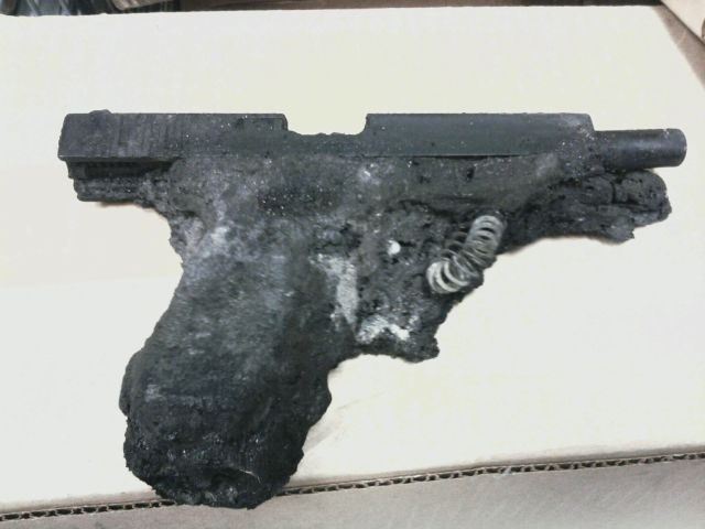melted glock