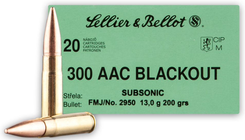 Sellier & Bellot 200gn Subsonic 300 BLK - 500 Rounds