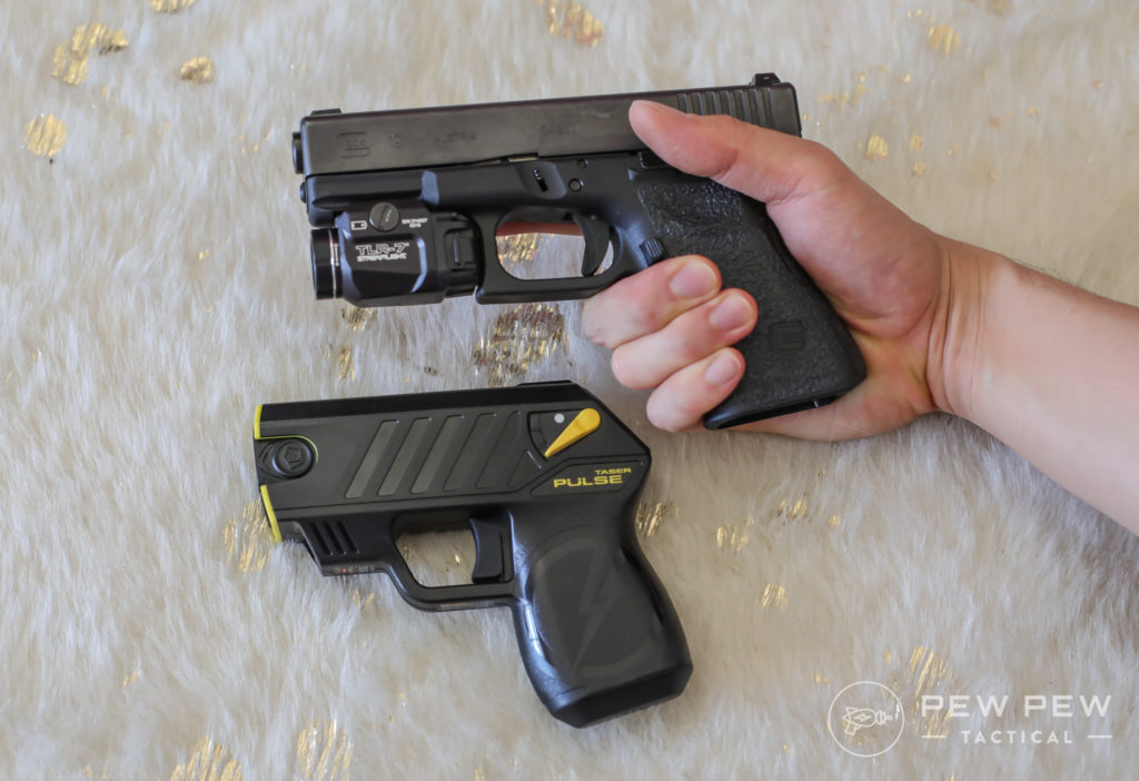 Taser Pulse vs Glock 19 Grip