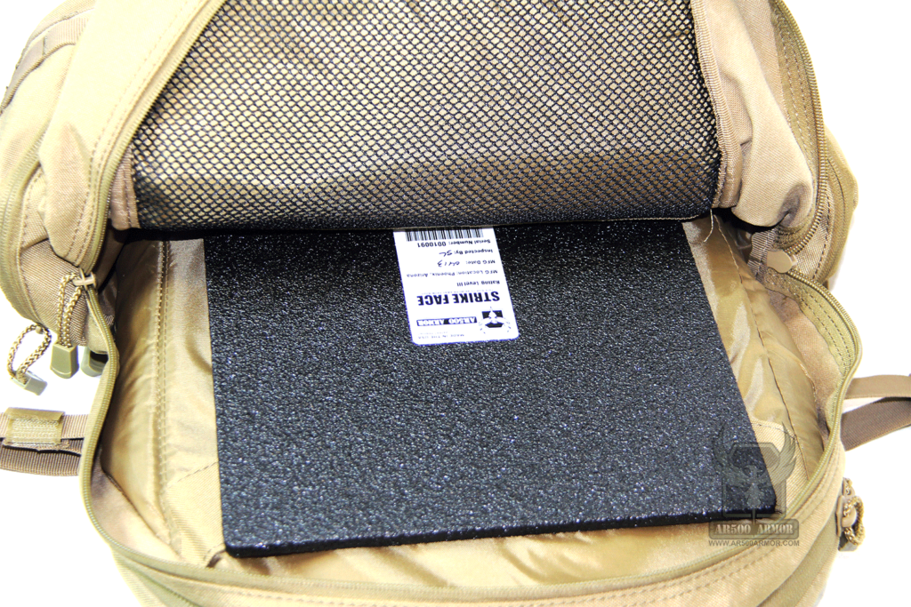 AR500 Level III Backpack Armor Plate in Bag