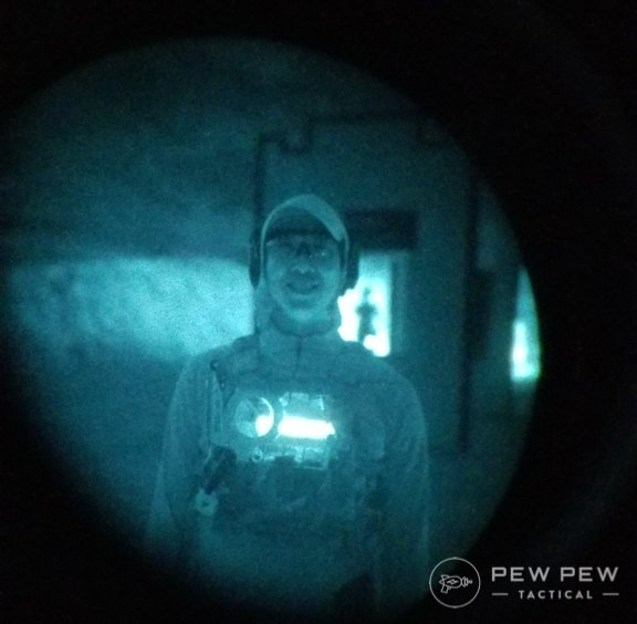 Author Through White Phosphorus Night Vision