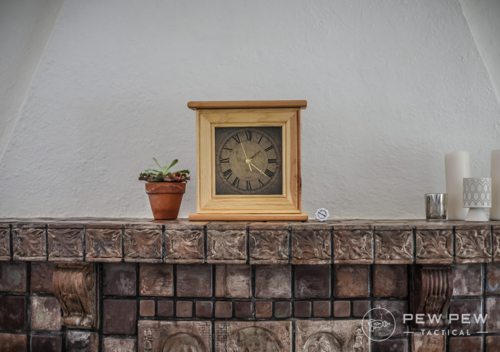 Liberty Home Concealment Clock, Fireplace