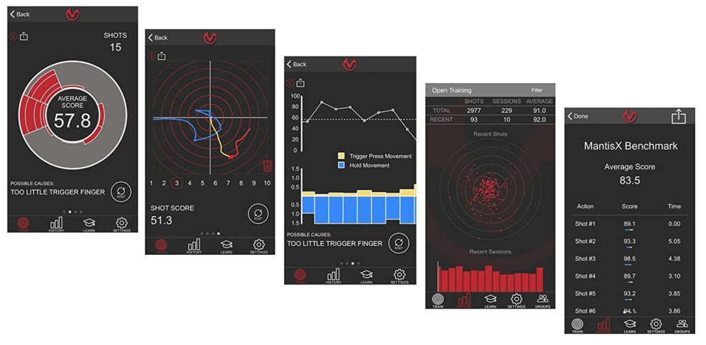 MantisX Firearms Training System App