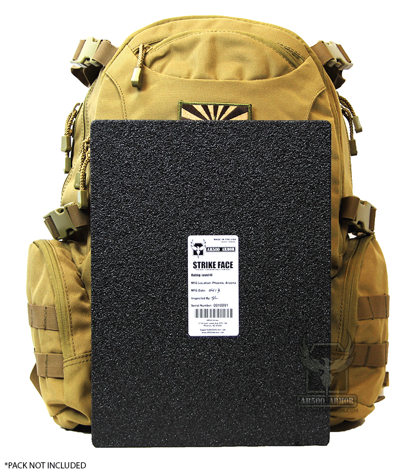 NIJ Level III AR500 Backpack Armor Panel