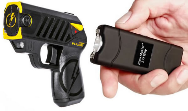 Taser (Left) vs Stun Gun (Right)