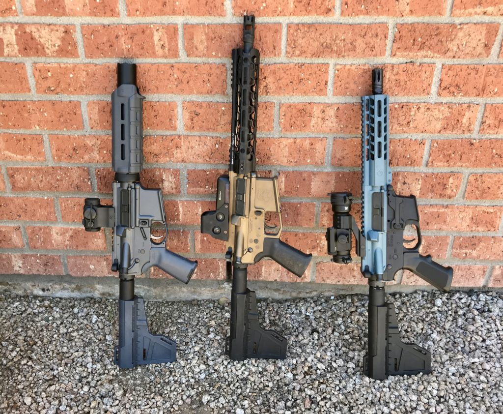 Three AR-Pistols