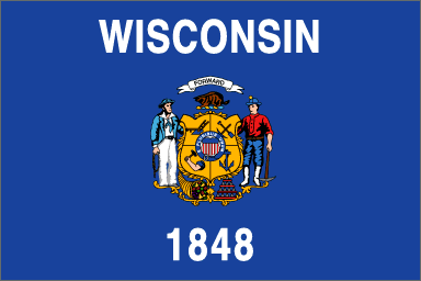 Wisconsin State Flag. Badger included.