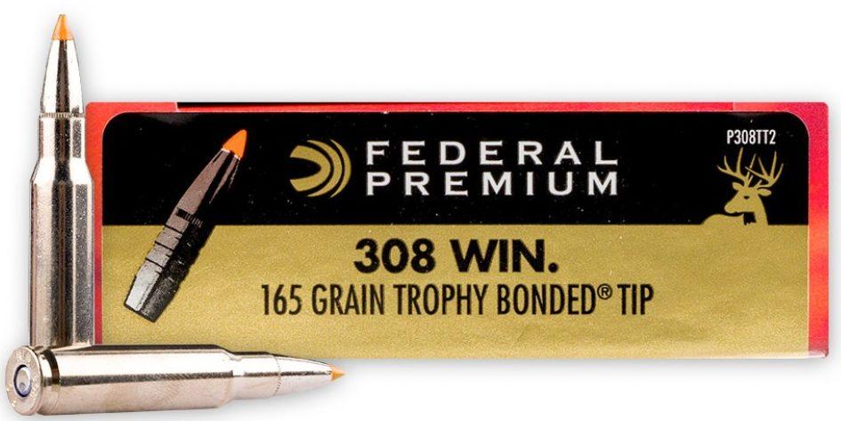 Federal Premium Vital-Shok 165gr .308 Trophy Bonded Tip