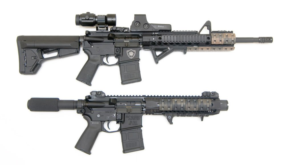 AR-15 Rifle Vs. Pistol