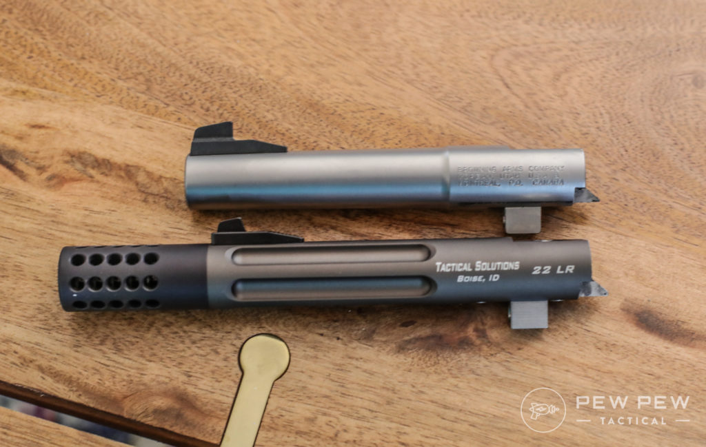 Tactical Solutions Trail Lite vs Stock