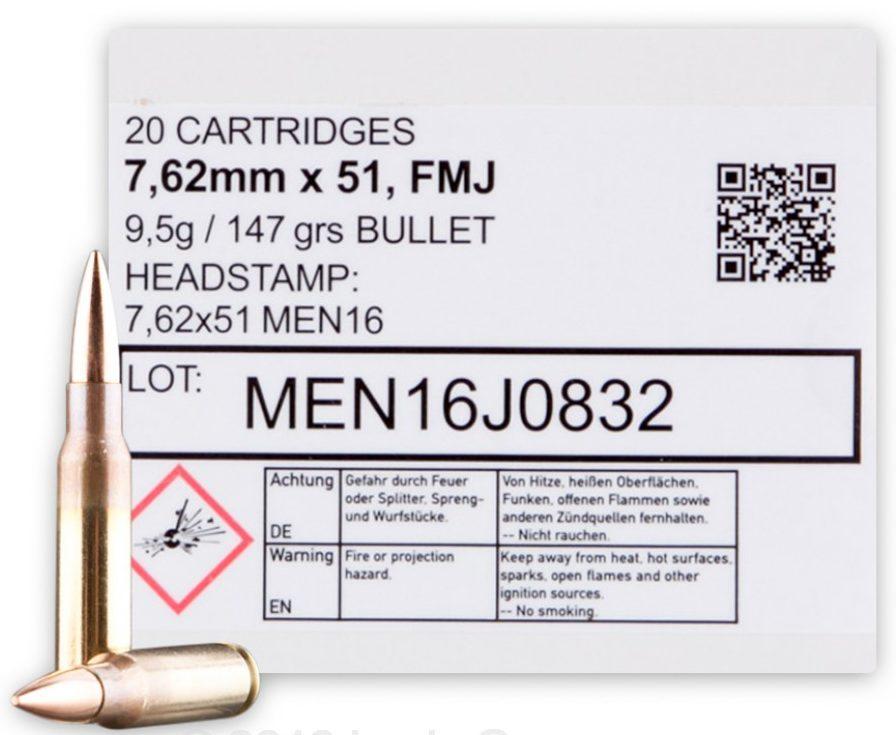 MEN/Magtech 7.62x51mm - 147 Grain FMJ - 320 Rounds