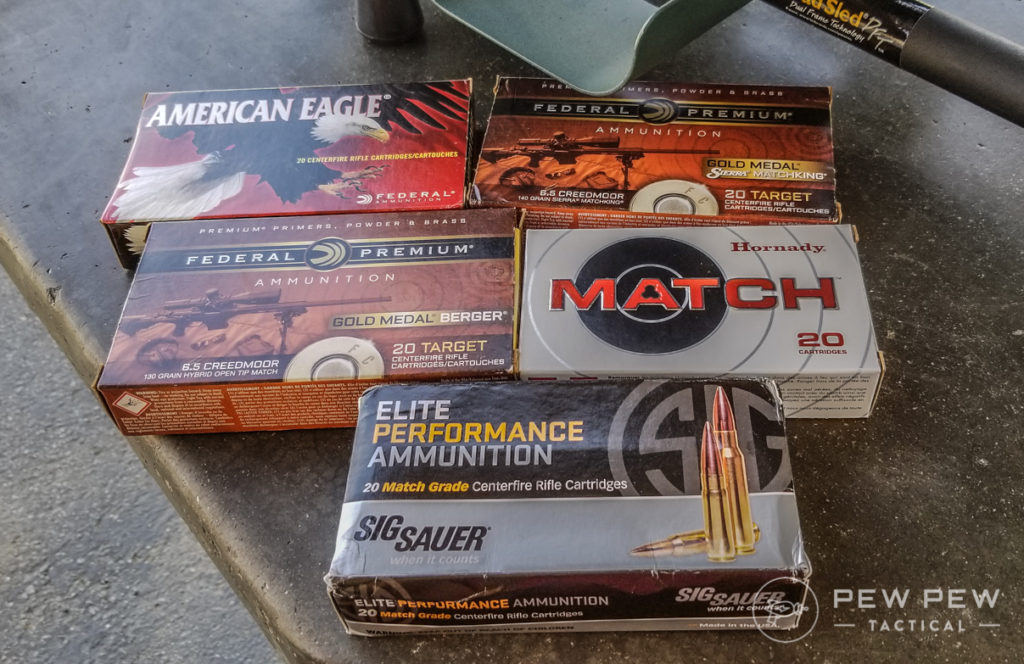 Tested 6.5 Creedmoor Ammo
