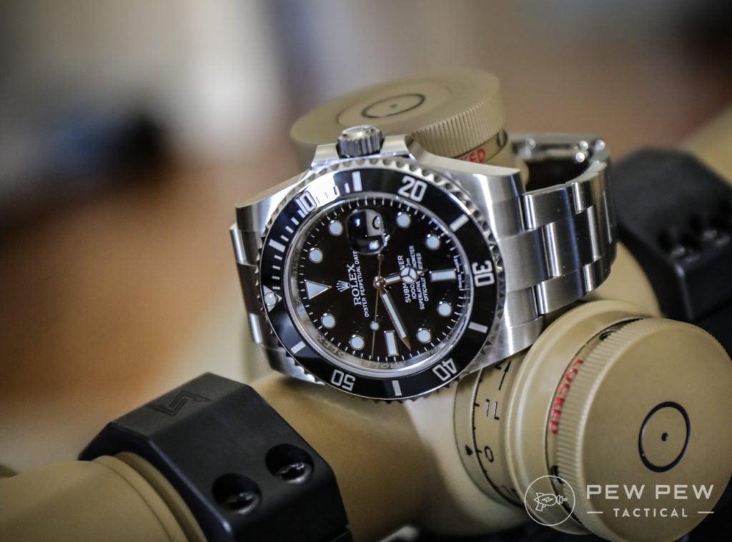 Rolex Submariner on Schmidt & Bender PMII