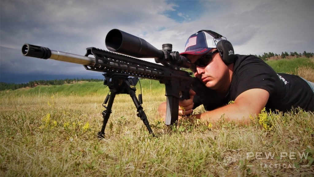 Ken behind a .224 Valk rifle