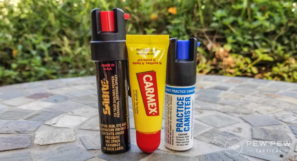 Sabre 3-in-1 Pepper Spray Size Comparison