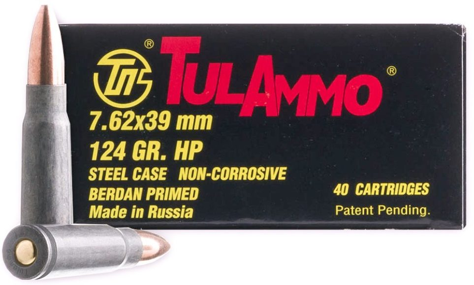 Tulammo 124gr HP 7.62x39