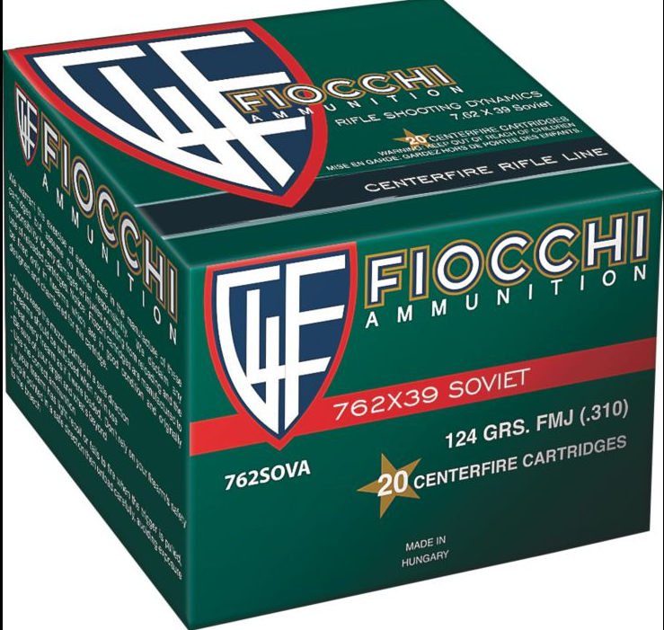 Fiocchi Shooting Dynamics 124gr 7.62x39