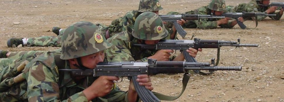 China Military training with 7.62