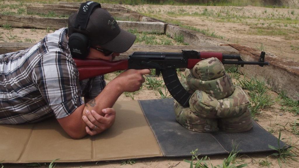 Author zeroing a PSAK-47 Liberty Classic