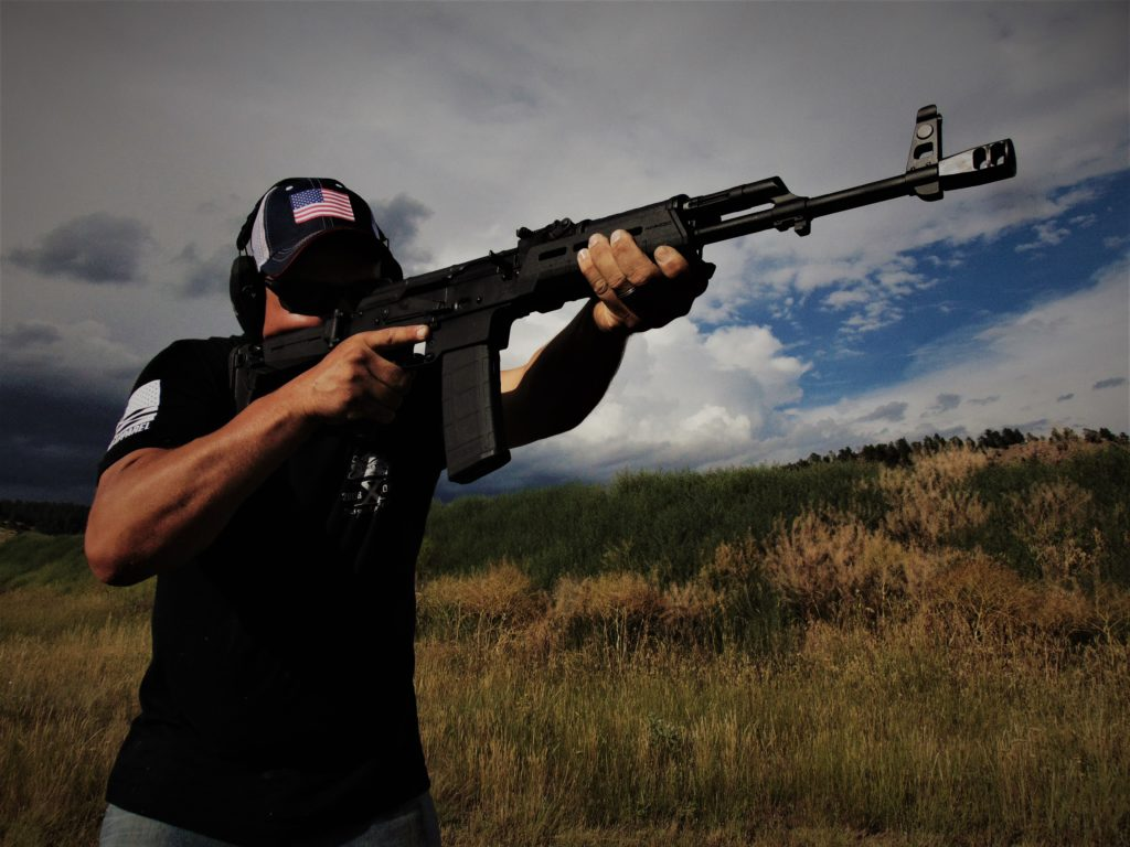 Author handling the Palmetto State Armory AK chambered in 5.56 NATO.