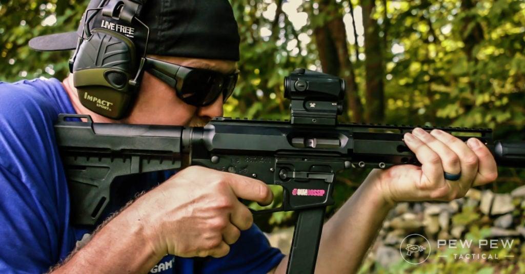 Blade on pistol
