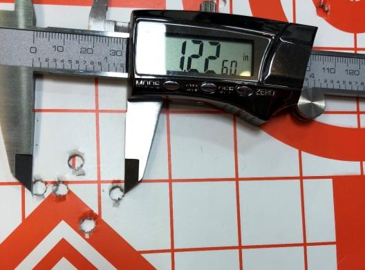 Winchester 55gr FMJ shooting 1.22-inche groups at 100 yards